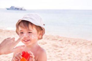sončne opekline pri otrocih